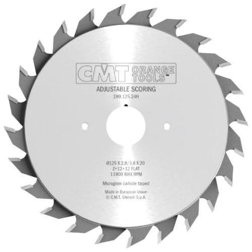 Předřezový kotouč CMT C28908020H dvoudílný - D80x2.8-3.6x20 Z10+10