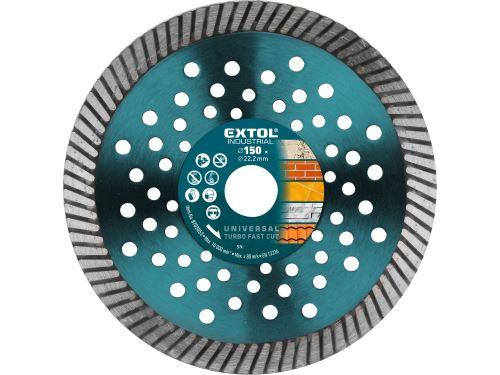 Kotouč diamantový Extol 8703053 řezný turbo Fast Cut, 150x22,2mm, suché i mokré řezání