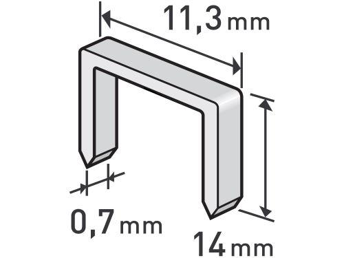 Spony Extol 8852505, balení 1000ks, 14mm, 11,3x0,52x0,70mm