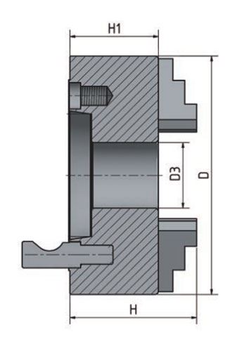3-čelisťové sklíčidlo s centrickým upínáním Optimum ø 200 mm Camlock 4