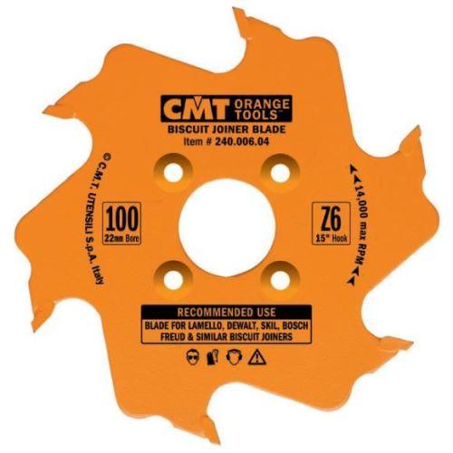 Kotouč lamelovací CMT C24000604 pro lamelové spoje - D100x22x3.96 Z6