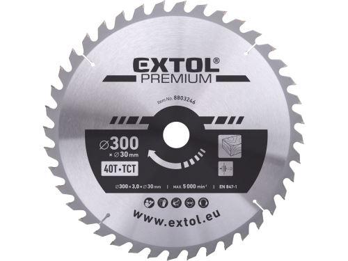 Kotouč pilový s SK plátky Extol 8803246, 300x2,2x30mm, 40T, šířka SK plátků 3,2mm