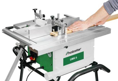 Univerzální víceúčelový stroj Holzstar UMK 6, 1000W, hoblovka, dlabačka, stolní pila