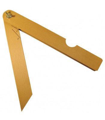 Úhloměr dřevěný (pokosník) Kinex 250mm/30°,45°,60°,90°