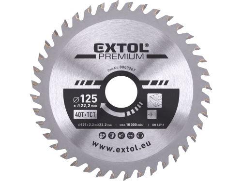 Kotouč pilový Extol 8803207 s SK plátky, 125x1,3x22,2mm