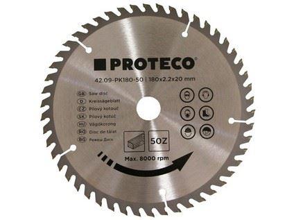 Pilový kotouč Proteco 42.09-PK180-50, SK plátky, 180 x 2.0 x 30/20mm 50z