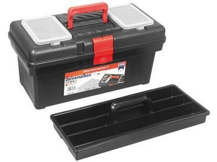 Kufr plastový 415mm se zásobníkem a přihrádkami ve víku