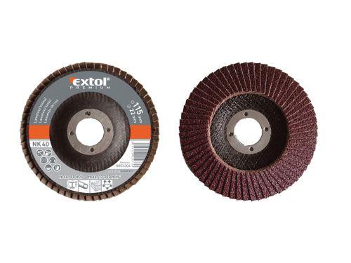 Lamelový kotouč Extol 8803304 šikmý korundový, P40, 115mm