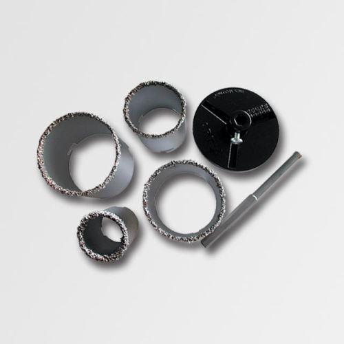 Sada diamantových vykružovačů do obkladů Stavtool P11832/4, 33,53,67,73mm