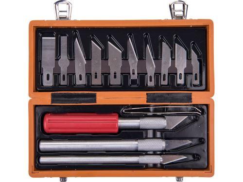 Nože Extol 91350 na vyřezávání, sada 14ks, v krabičce