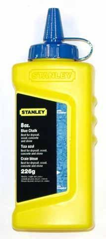 Modrá prášková křída 225g Stanley 1-47-803