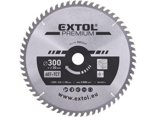 Kotouč pilový s SK plátky Extol 8803247, 300x2,2x30mm, 60T, šířka SK plátků 3,2mm