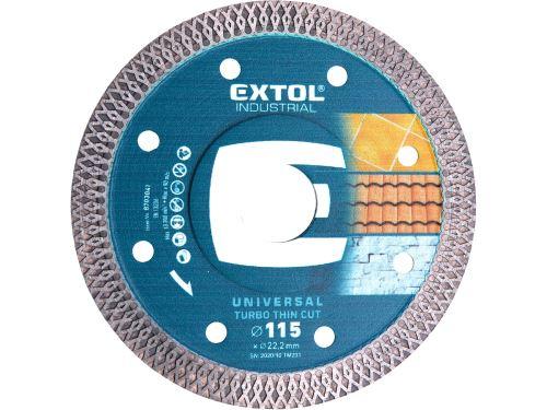 Kotouč diamantový Extol 8703041, suché i mokré řezání, 115x22,2mm