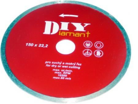 Diamantový kotouč Diy 60125100, 125mm, celoobvodový