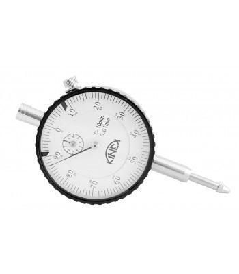 Úchylkoměr číselníkový KINEX 0-10 mm/60 mm/0,01 mm, ISO 46325, ČSN 25 1811, ČSN 25 1816